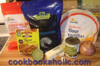 Shrimpquesadillaingredients