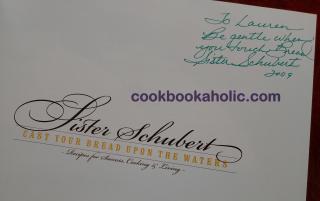 Sister Schubert Signature